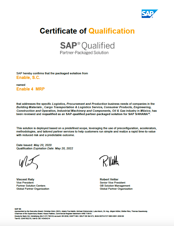 Certificado 4MRP